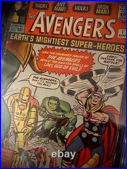 Marvel Avengers #1 Cgc Ss 5.0 Signed By Stan Lee 1963 Key Thor, Hulk, Iron Man