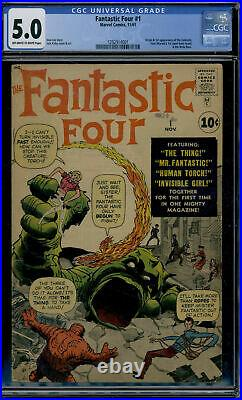 Marvel Comics Fantastic Four #1 CGC 5.0 Off White to White Pages