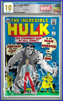Marvel Comics The Incredible Hulk Silver Foil Cgc 10 Gem Mint First Release