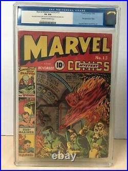 Marvel Mystery Comics #13 (1940) CGC 4.0 Timely 1st Vision Great Eye Appeal WOW