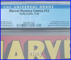 Marvel Mystery Comics 13 1940 Timely 1st VISION New Sub-Mariner CGC 3.0 RARE
