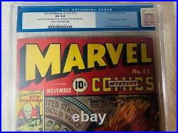 Marvel Mystery Comics #13 (Nov 1940, Timely) CGC 4.0 1st Appearance of Vision