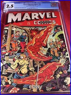Marvel Mystery Comics #55 CGC 1944 GREAT WW2 TORTURE COVER Schomburg NEW CASE