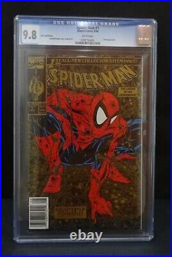 Marvel Spiderman #1 Gold UPC Variant CGC 9.8 Wal Mart Mcfarlane Art