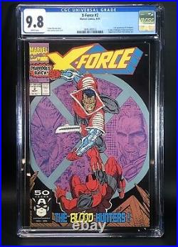 Marvel comic X-force 2 2nd appearance Deadpool CGC 9.8 NM/MINT