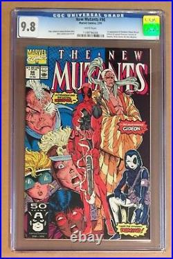 NEW MUTANTS #98 CGC 9.8 1st App DEADPOOL White Pages 1991 Marvel Comics