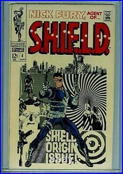 Nick Fury agent of SHIELD #4 CGC 8.0 1968 Marvel Comic Amricons K27