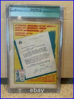 Original 1942 DC Comics Wonder Woman #1 CGC Graded 3.5 Green Label