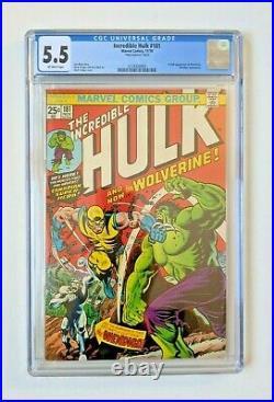 RARE Mark Jewelers Incredible Hulk #181 (Marvel 1974) CGC 5.5 1st Wolverine