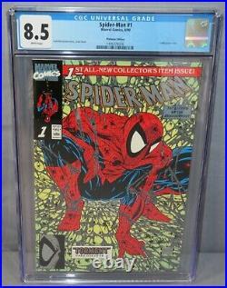SPIDER-MAN #1 with Retailer Letter (Platinum Edition Variant) CGC 8.5 Marvel 1990