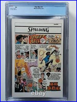 STAR WARS #1 CGC 9.4 NM WHITE PAGES (1977) FIRST PRINT NEWSSTAND MARVEL Comics