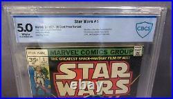 STAR WARS #1 (Rare 35 Cent Price Variant) CBCS 5.0 VF Marvel Comics 1977 cgc. 35