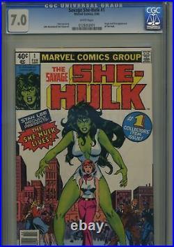 Savage She-Hulk 1 CGC 7.0 White Pages