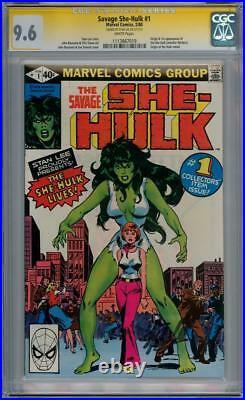 Savage She-hulk #1 Cgc 9.6 Signature Series Stan Lee Origin App Marvel Comics
