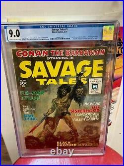Savage Tales #1 Magazine 1st app Man-thing Marvel Comics 1971 CGC 9.0
