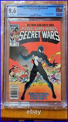 Secret Wars 8 CGC 9.6 1st Spider-man Black Costume VENOM NEWSSTAND