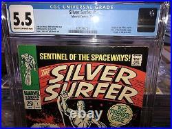 Silver Surfer 1 Cgc 5.5 Origin Of Surfer N Watchers