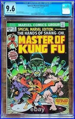 Special Marvel Edition #15 CGC 9.6 NM+ SHANG-CHI Marvel Hot! MCU