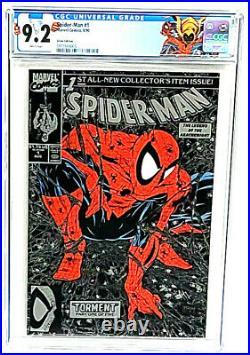 Spider-Man #1 Silver Edition Variant Todd McFarlane CGC 9.2 Marvel Comics 1990