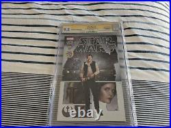 Star Wars #1 Cgc Ss 9.8 Marvel Comics Signed Harrison Ford