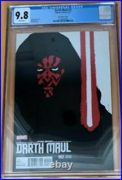 Star Wars Darth Maul #2 David Aja Variant Cover Cgc 9.8 Marvel Comic Book New 1
