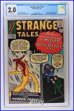 Strange Tales #110 Marvel 1963 CGC 2.0 1st App Dr. Strange, Ancient One & Wong