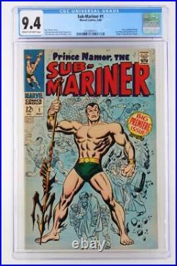 Sub-Mariner #1 -NEAR MINT- CGC 9.4 NM MARVEL 1968 ORIGIN Sub-Mariner