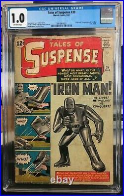 Tales of Suspense #39 CGC 1.0 (Marvel Comics) 1st Iron Man/ Tony Stark Kirby Lee