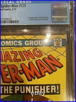 The Amazing Spider-Man #129 (Feb 1974, Marvel) CGC 5.5 1st Punisher