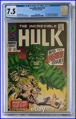 The Incredible Hulk #102 Marvel Comics 1968 Graded CGC 7.5 Premier Issue