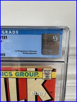 The Incredible Hulk Comic #181 CGC Graded 5.0 1st Wolverine (1974 Marvel)