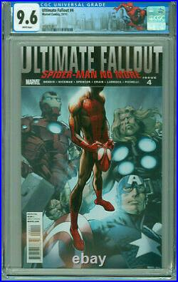 ULTIMATE FALLOUT #4 CGC 9.6 1st Print & App MILES MORALES Spiderman NYC Label