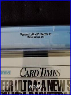 Venom Lethal Protector #1 CGC 9.8 Marvel Comics 1993 Mark Bagley Cover