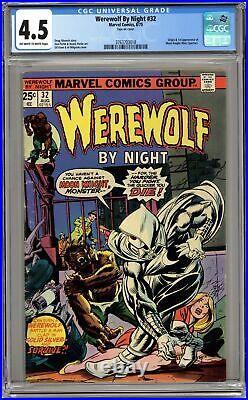 Werewolf by Night #32 CGC 4.5 1975 3763703018 1st app. Moon Knight