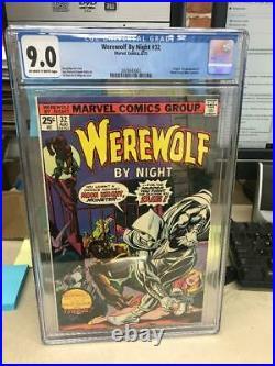 Werewolf by Night #32 CGC 9.0 VF/NM 1st MOON KNIGHT owithw origin