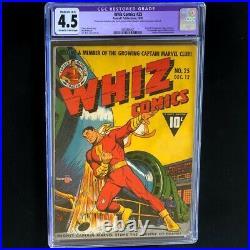 Whiz Comics #25 (Fawcett 1941) CGC 4.5 Restored 1st App Captain Marvel Jr