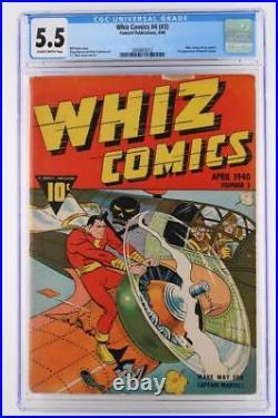 Whiz Comics #4 (#3) CGC 5.5 FN- -Fawcett 1940- Captain Marvel