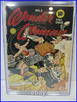 Wonder Woman #2 CGC Universal Grade 1.8 1942 DC Comics