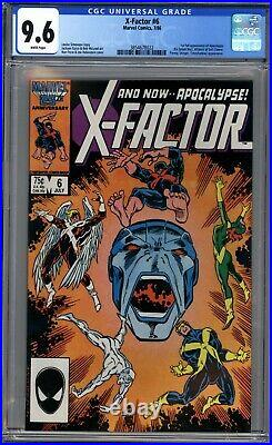 X-FACTOR #6 (1986) CGC 9.6 NM+ WHITE PAGES 1st APPEARANCE APOCALYPSE