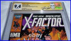 X-Factor #6 CGC SS Signature Autograph STAN LEE 1st Full Apocalypse Frenzy Comic