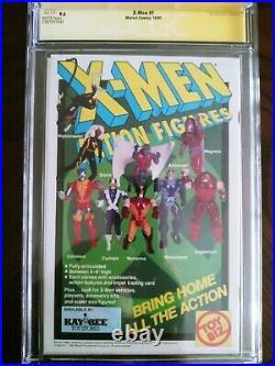 X-Men #1 9.6 CGC 3X Signed STAN LEE, JIM LEE & CHRIS CLAREMONT