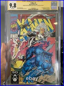 X-Men #1 CGC 9.8 SS 3x Stan Lee, Jim Lee and Chris Claremont 1518987045