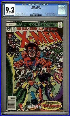X-Men 107 CGC Graded 9.2 NM- 1st Appearance Of Starjammers Marvel Comics 1977