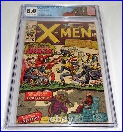 X-Men #9 CGC Universal Grade Comic 8.0 1st Meeting Avengers Lucifer Marvel Girl