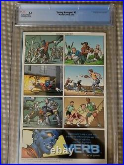 Young Avengers 1 Cgc 9.8 1st Kate Bishop & More Mcu